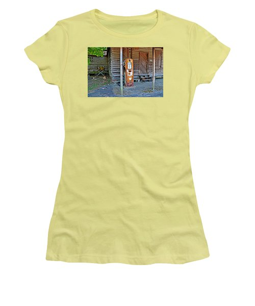 Forty Nine Cents Per Gallon Women's T-Shirt (Junior Cut) by Linda Brown