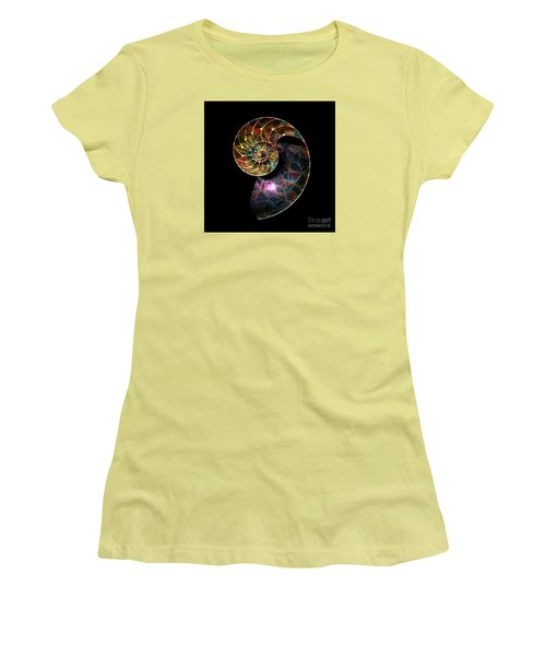 Fossilized Nautilus Shell Women's T-Shirt (Athletic Fit)