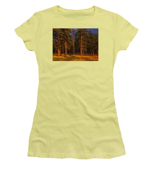 Forest After Rain Storm Women's T-Shirt (Athletic Fit)