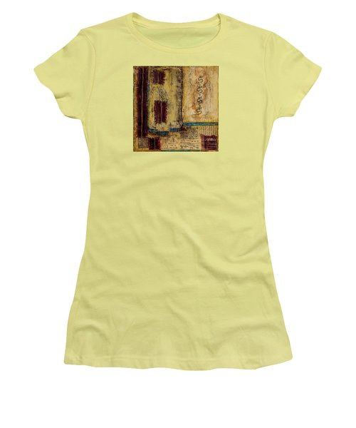Women's T-Shirt (Junior Cut) featuring the mixed media Four Dragons by Bellesouth Studio