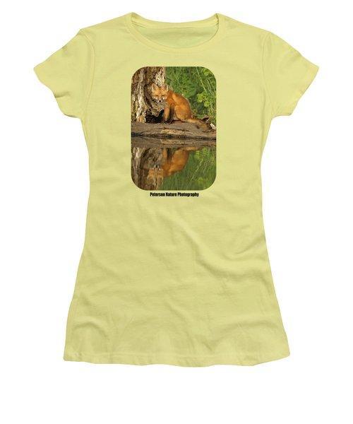 Fox Reflection Shirt Women's T-Shirt (Junior Cut) by James Peterson