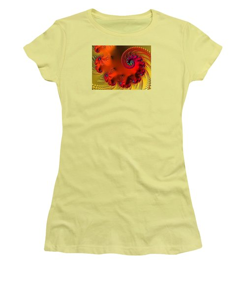 Fractal Art - Breath Of The Dragon Women's T-Shirt (Junior Cut) by HH Photography of Florida