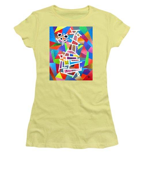 Fractured Instrument Of Love Women's T-Shirt (Junior Cut) by Jeremy Aiyadurai