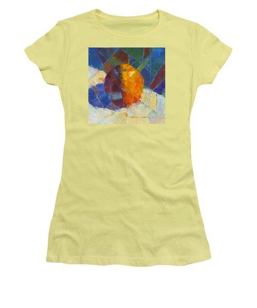 Fractured Orange Women's T-Shirt (Junior Cut) by Susan Woodward