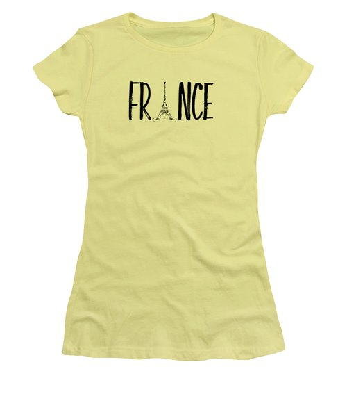France Typography Women's T-Shirt (Athletic Fit)
