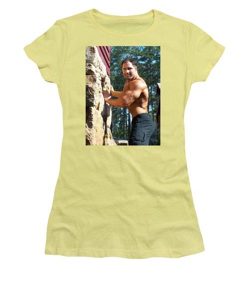 Women's T-Shirt (Junior Cut) featuring the photograph Franco Corelli Aka Dominic Dagostino by Jake Hartz