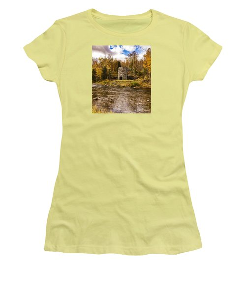 Women's T-Shirt (Junior Cut) featuring the photograph Franconia Fall by Anthony Baatz