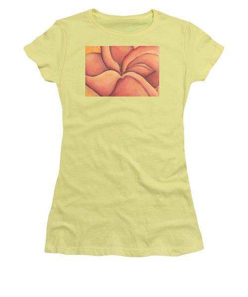 Frangipani Women's T-Shirt (Junior Cut) by Versel Reid