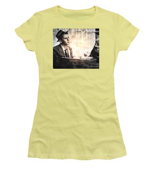 Frank Sinatra - Vintage Painting Women's T-Shirt (Junior Cut) by Ian Gledhill