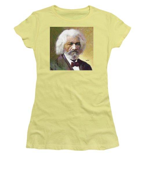 Frederick Douglass Women's T-Shirt (Junior Cut) by Wayne Pascall