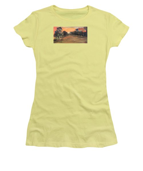 Freedom Road Women's T-Shirt (Junior Cut) by Remegio Onia