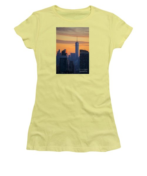 Freedom Tower At Sunset Women's T-Shirt (Athletic Fit)