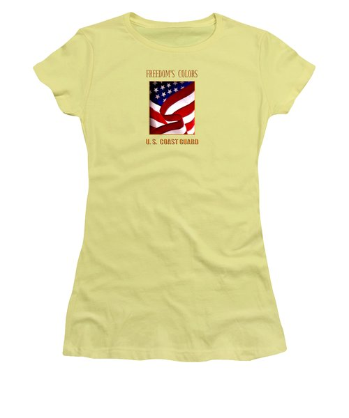 Freedom's Colors Uscg Women's T-Shirt (Athletic Fit)