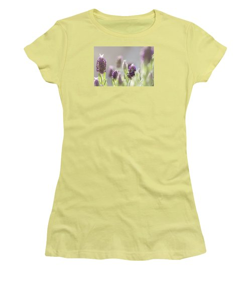 French Lavendar Buds Women's T-Shirt (Junior Cut) by Mary Angelini