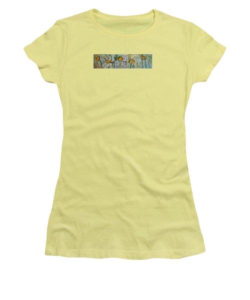 Fresh As A Daisy Women's T-Shirt (Junior Cut) by Ruth Kamenev
