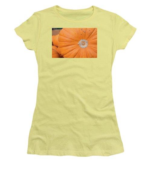 Fresh Organic Orange Giant Pumking Harvesting From Farm At Farme Women's T-Shirt (Junior Cut) by Jingjits Photography