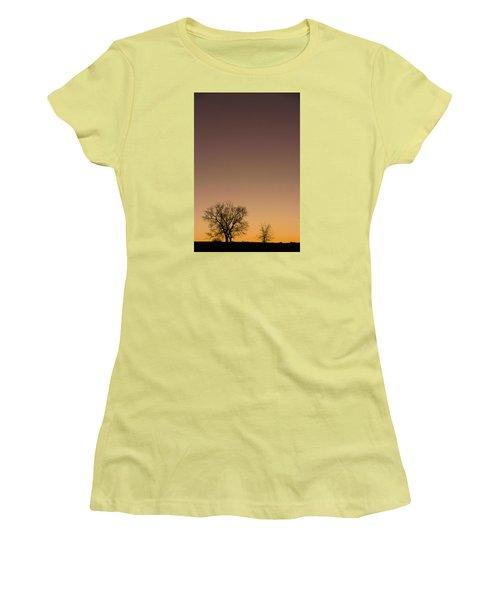 Women's T-Shirt (Junior Cut) featuring the photograph Friends Awaiting Sunrise by Monte Stevens