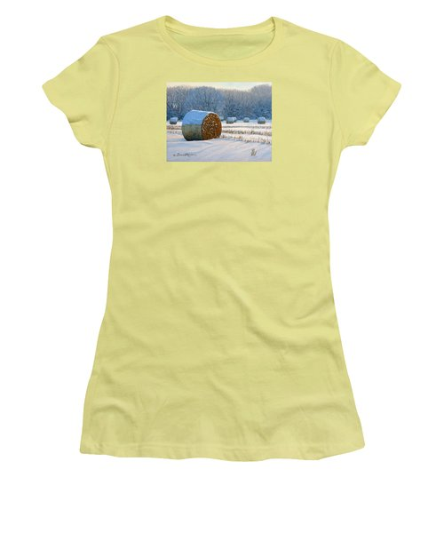 Frigid Morning Bales Women's T-Shirt (Athletic Fit)