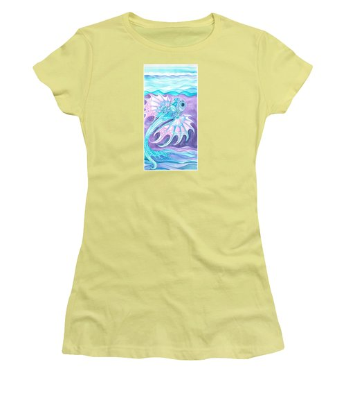 Frilled Fish Women's T-Shirt (Junior Cut) by Adria Trail