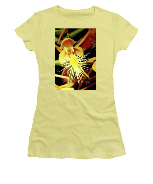 Fringed Yellow Orchid Women's T-Shirt (Athletic Fit)