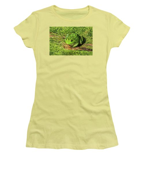 Frog And Duck Weed Women's T-Shirt (Junior Cut) by Edward Peterson