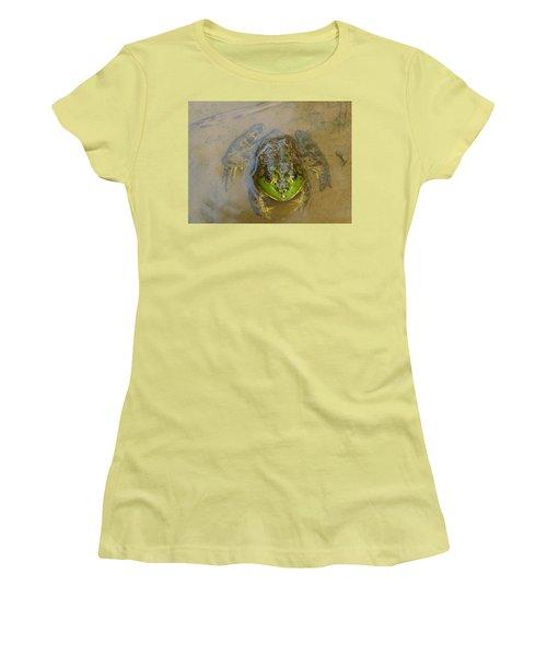 Frog Of Lake Redman Women's T-Shirt (Junior Cut) by Donald C Morgan