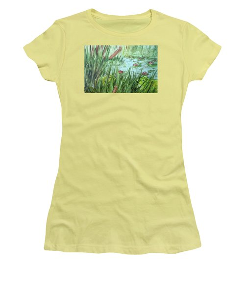 Frog Went A-courtin Women's T-Shirt (Athletic Fit)