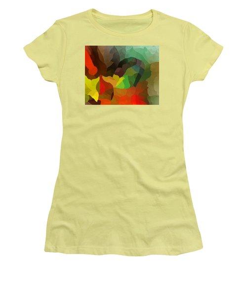 Frolic In The Woods Women's T-Shirt (Junior Cut) by David Lane