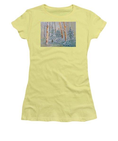 Winter Frost Women's T-Shirt (Junior Cut) by Joanne Smoley