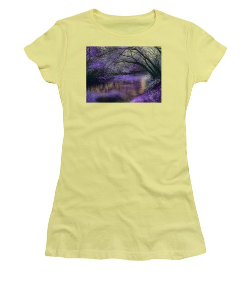 Frosty Lilac Wilderness Women's T-Shirt (Athletic Fit)