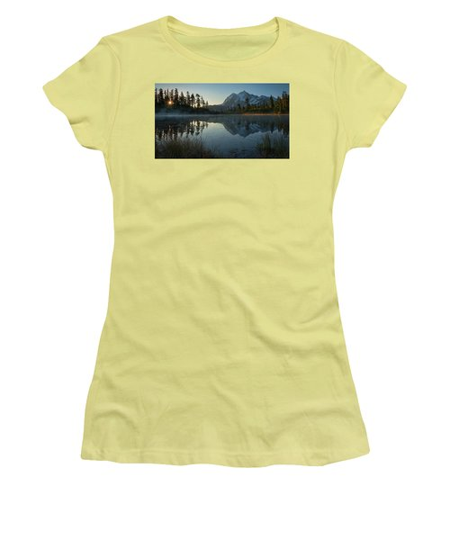 Frosty Picture Lake Women's T-Shirt (Athletic Fit)