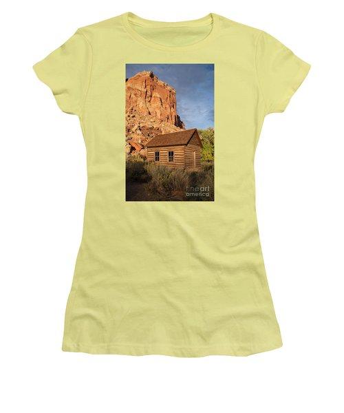 Fruita School Women's T-Shirt (Junior Cut) by Cindy Murphy - NightVisions