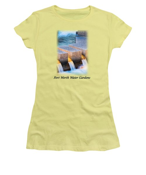 Ft. Worth Water Garden Falls T-shirt Women's T-Shirt (Athletic Fit)
