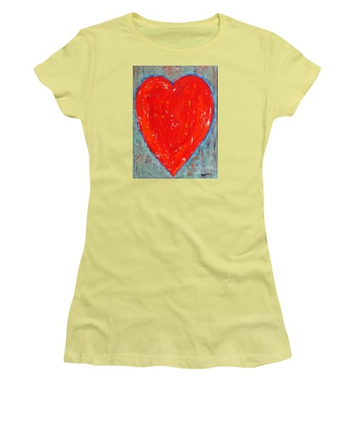 Full Heart Women's T-Shirt (Athletic Fit)
