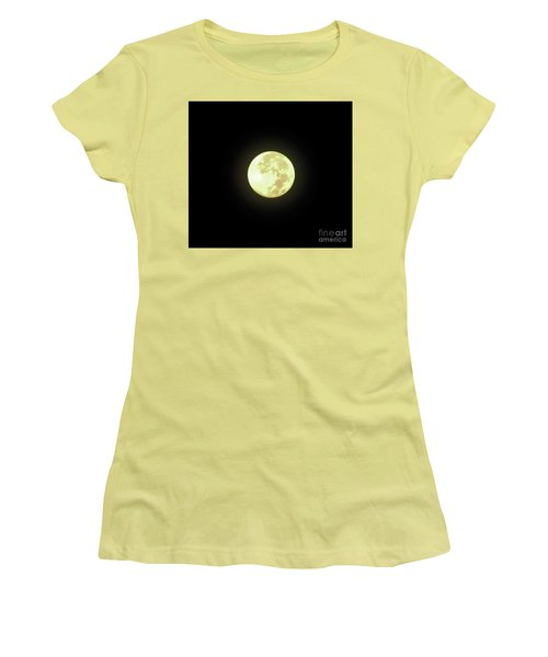Full Moon August 2014 Women's T-Shirt (Junior Cut) by D Hackett