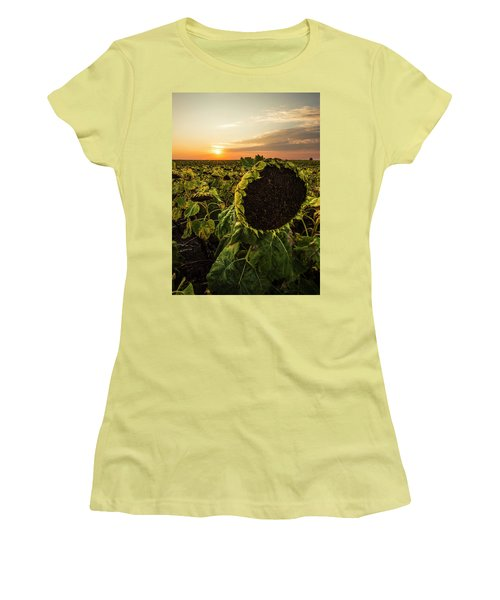 Women's T-Shirt (Athletic Fit) featuring the photograph Full Of Seed  by Aaron J Groen