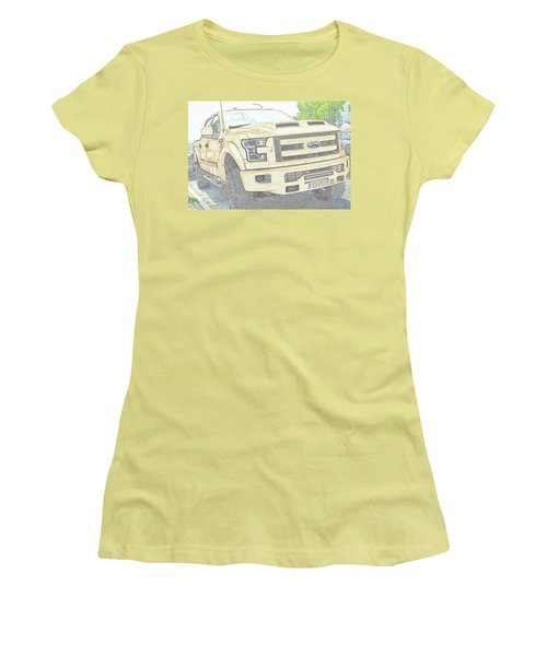 Women's T-Shirt (Athletic Fit) featuring the photograph Full Sized Toy Truck by John Schneider