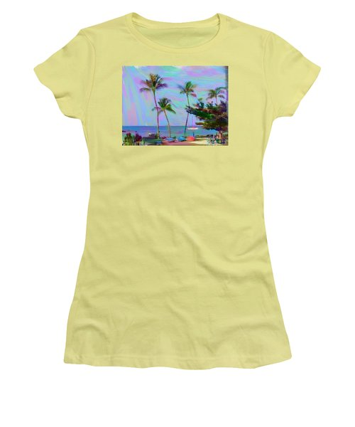 Fun At The Beach Women's T-Shirt (Junior Cut) by Karen Nicholson