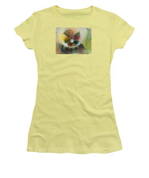 Women's T-Shirt (Junior Cut) featuring the digital art Fun With Gardening by Karin Kuhlmann