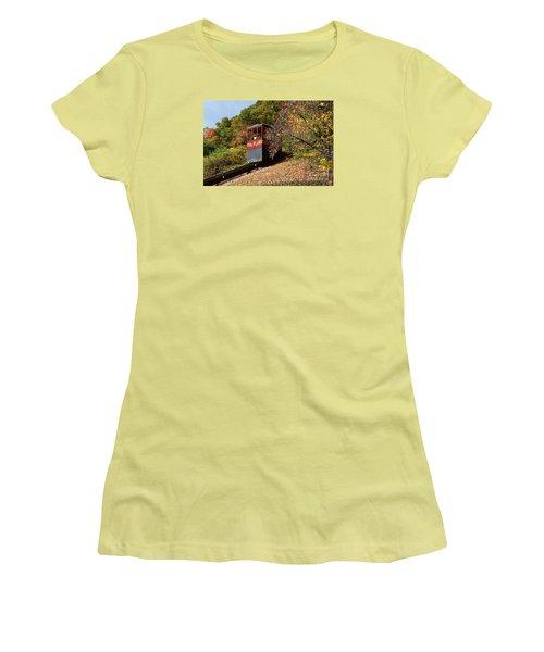 Funicular Descending Women's T-Shirt (Junior Cut) by Cindy Manero