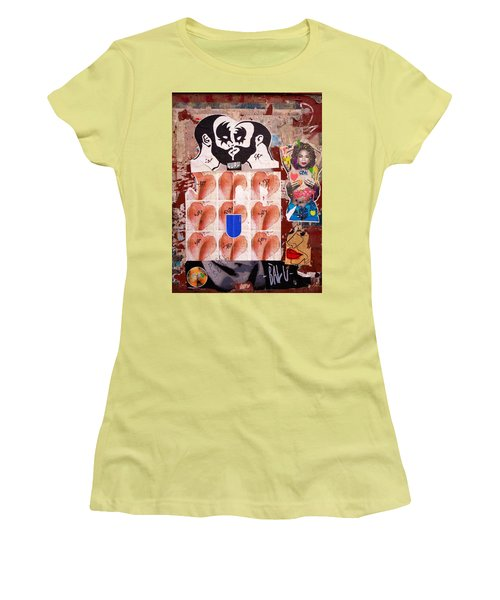 Funky New York Street Art  Women's T-Shirt (Junior Cut) by Funkpix Photo Hunter
