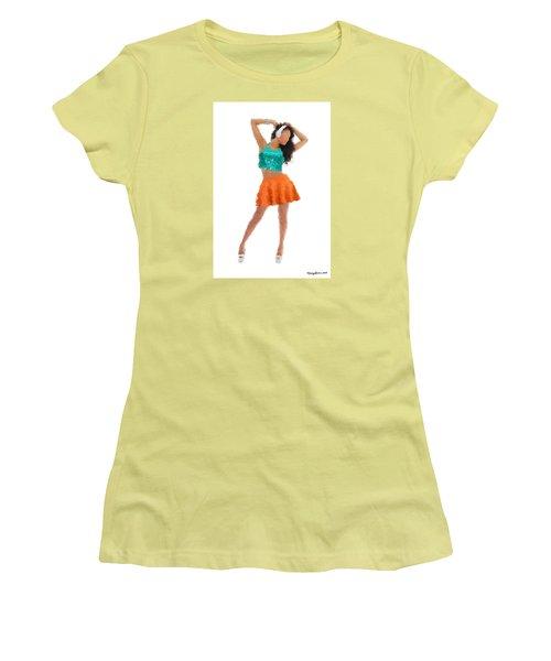 Women's T-Shirt (Junior Cut) featuring the digital art Gaby by Nancy Levan