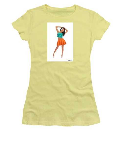 Women's T-Shirt (Athletic Fit) featuring the digital art Gaby by Nancy Levan