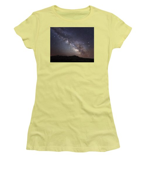 Galactic Light On Badlands National Park Women's T-Shirt (Athletic Fit)
