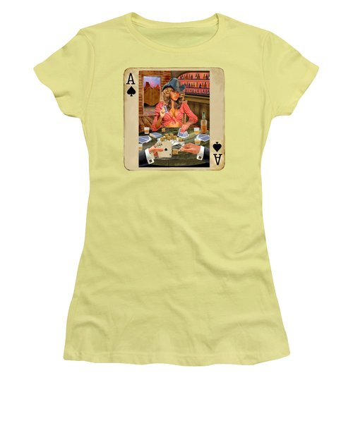 Gamblin' Cowgirl Women's T-Shirt (Athletic Fit)