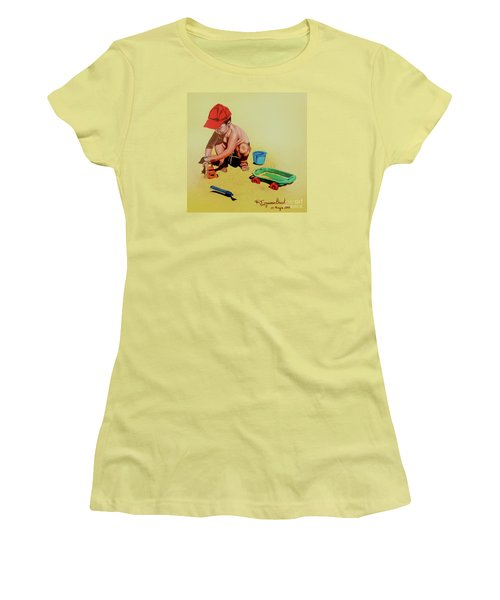 Game At The Beach - Juego En La Playa Women's T-Shirt (Athletic Fit)