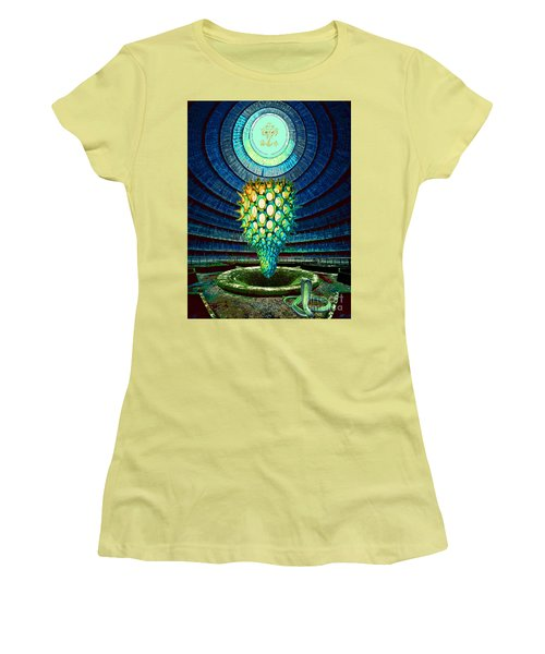 Ganesha Blessing His Fruit Women's T-Shirt (Athletic Fit)