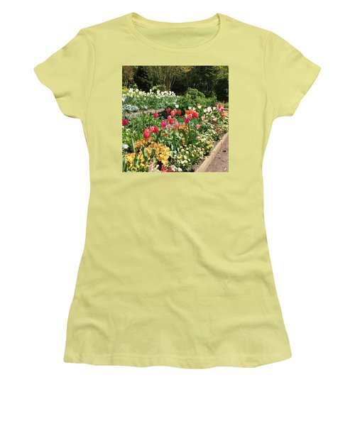 Garden Flowers Women's T-Shirt (Athletic Fit)