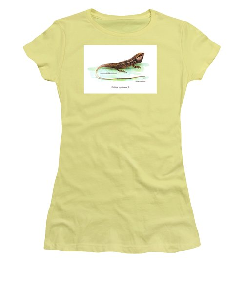 Garden Lizard Women's T-Shirt (Junior Cut) by Nguyen van Xuan