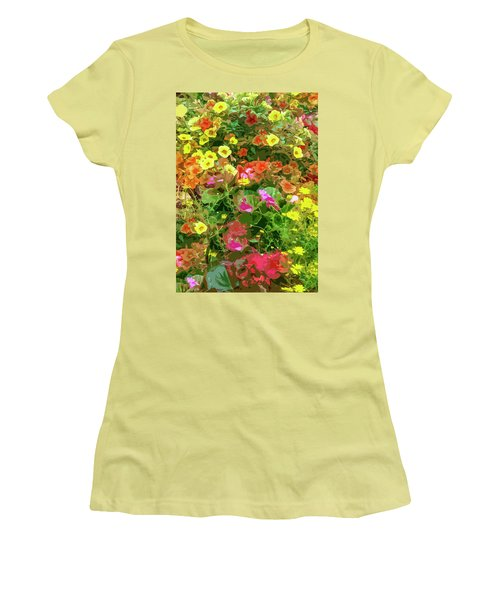 Garden Of Color Women's T-Shirt (Athletic Fit)